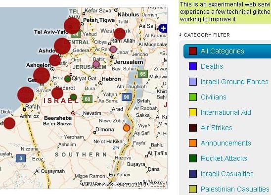 gaza aljazeera map 5 31 2010