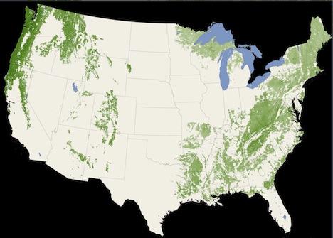 nasa satellite map trees photo usa