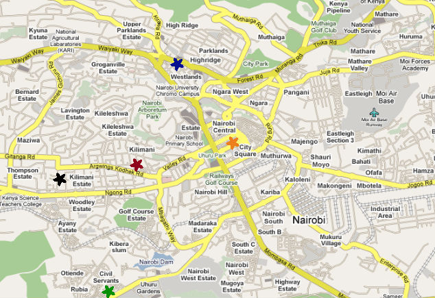 Finding An Apartment In Nairobi ChewyChunks - nairobi map