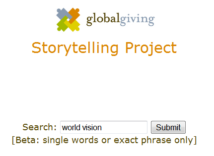 Search the storytelling project
