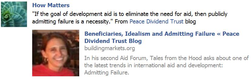admit failure, fix aid