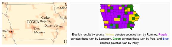 http://en.wikipedia.org/wiki/Iowa_Republican_caucuses,_2012