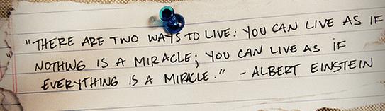 life as miracle