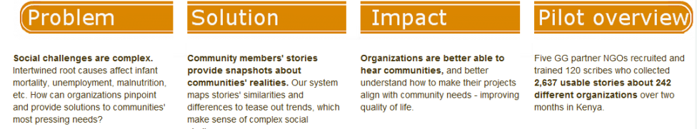 GlobalGiving - Story Tools for Community Based Organizations