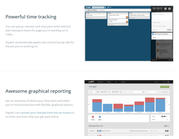 Trello Time Tracker Paydirt