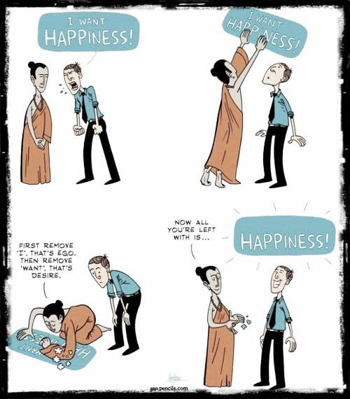 buddhist way - I want happiness