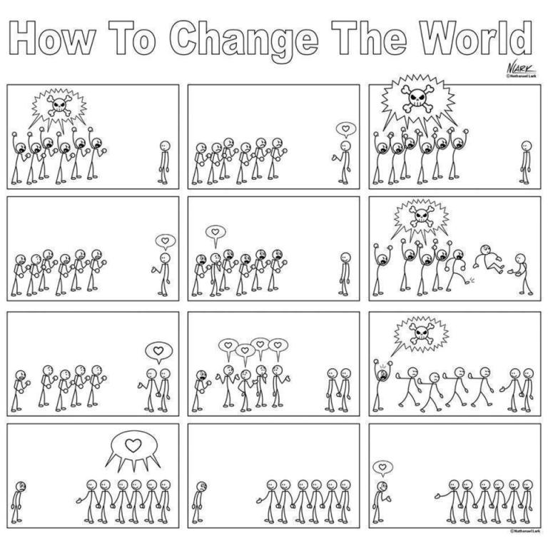change the world from death to love