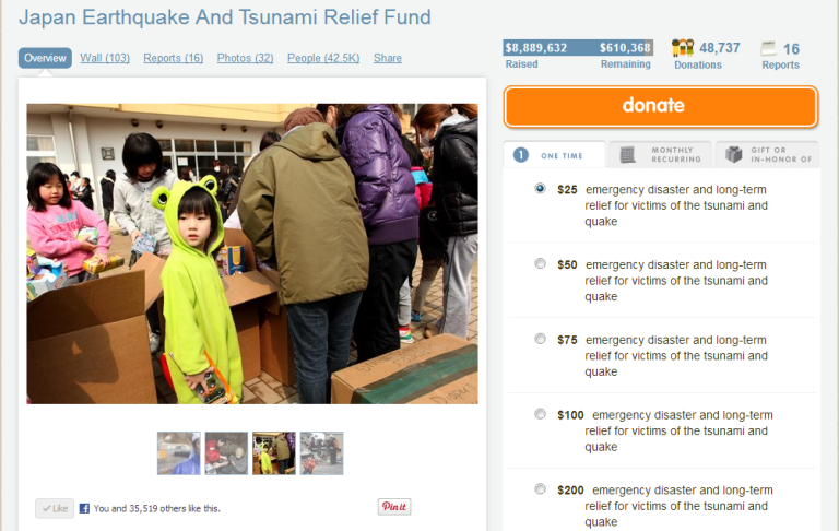 Japan Earthquake and Tsunami Relief Fund - GlobalGiving
