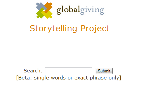 1-Search all GlobalGiving Stories