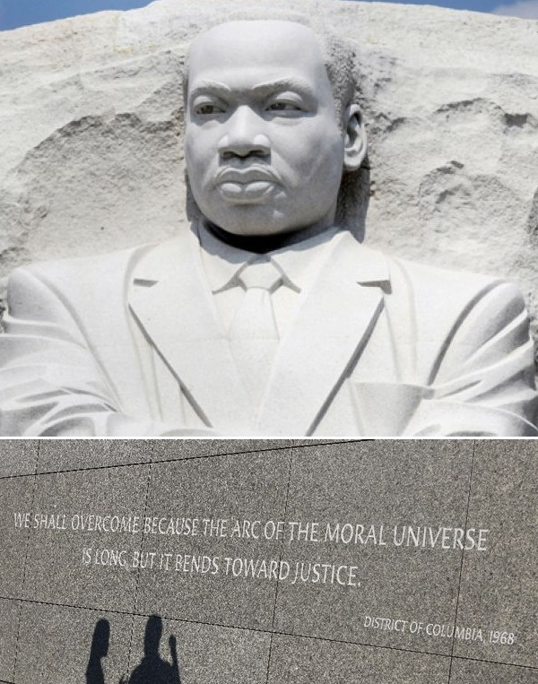 mlk memorial long arc of moral universe bends towards justice