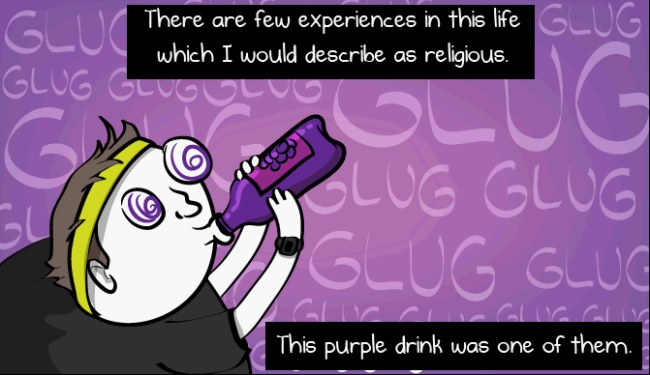 the religious ecstasy of the purple drink - oatmeal