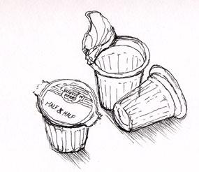 Creamer-cups