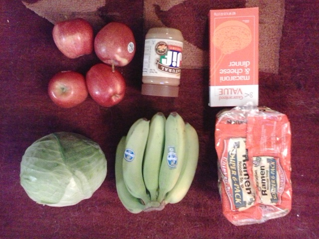 shopping day 3 11.50 of food