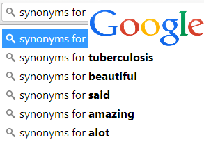 synonyms for autocomplete search